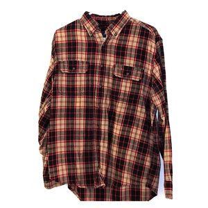 Faded Glory Plaid Button Down